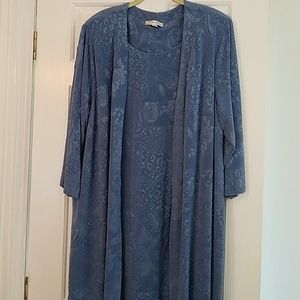Women's Dress Barn Long Dress w/Jacket attached